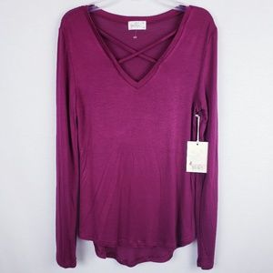 Strappy Purple Top Medium